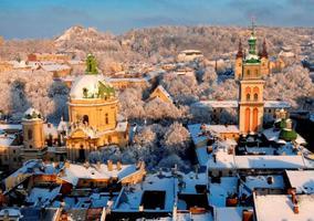 Photo small winter lviv